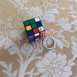 Vintage Mini Rubik's Cube Keychain